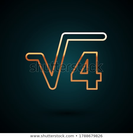 Mathematical Sign Golden Vector Icon Button Stock photo © rizwanali3d