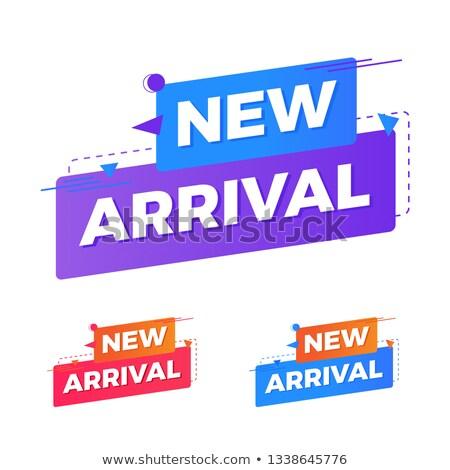 Nuovo arrivo viola vettore icona design Foto d'archivio © rizwanali3d