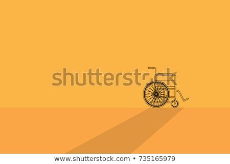 Сток-фото: колесо · Председатель · желтый · вектора · икона · дизайна