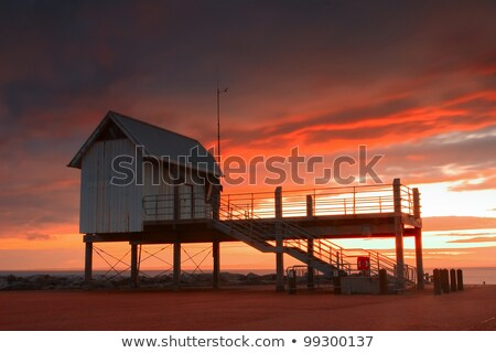 Sunset on the jetty in Morecambe Bay Stock photo © CaptureLight