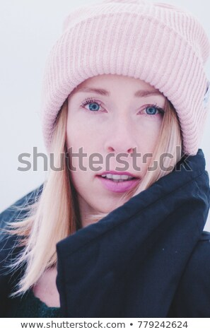 young beautiful woman with pretty little girl in white hat on st stock photo © paha_l
