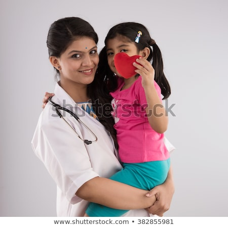 Сток-фото: Woman Doctor And Children Isolated On White 2
