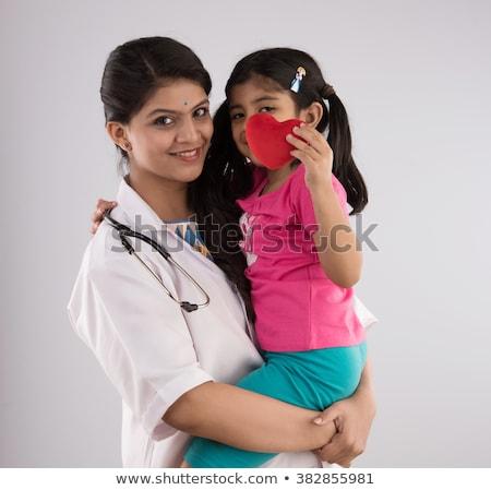 женщину · врач · детей · изолированный · белый · любви - Сток-фото © Paha_L