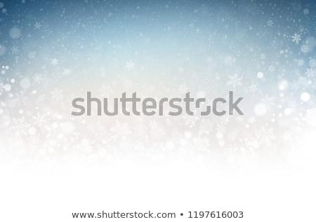 青 クリスマス 白 霜 抽象的な ストックフォト © Valeriy