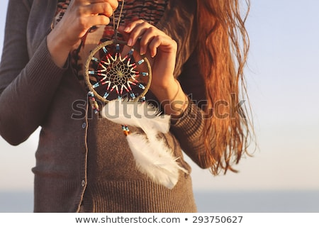 Indian girl with dreamcatcher Stock photo © adrenalina