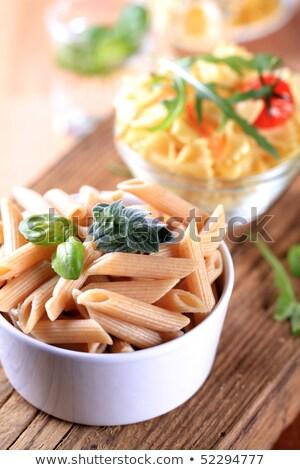 ストックフォト: 全粒小麦 · パスタ · 赤 · トマト · 食品