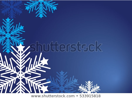 Abstract blue snowflake shape vector card. Stock photo © lenapix