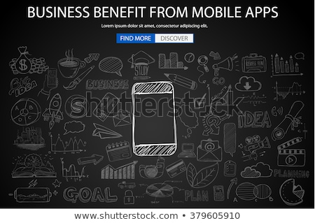 Business voordeel mobiele doodle ontwerp stijl Stockfoto © DavidArts