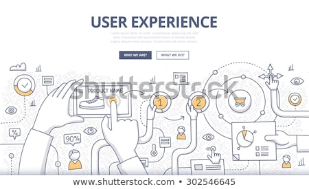 business solutions concept with doodle design style stock photo © davidarts