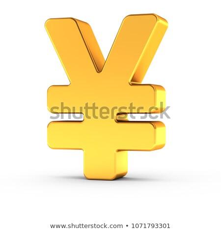 Jen symbol obyty złoty obiektu Zdjęcia stock © creisinger