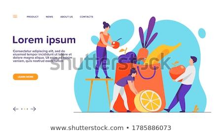 Dietista fruto ilustração mulher comida saúde Foto stock © adrenalina