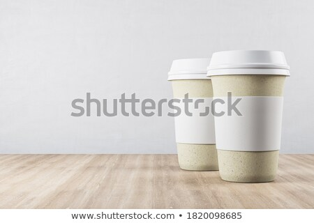 два · бумаги · напитки · изолированный · белый - Сток-фото © karandaev
