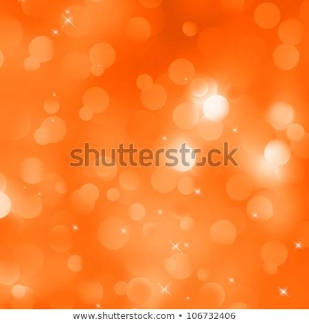 Stok fotoğraf: Soyut · turuncu · kış · kar · taneleri · eps · vektör