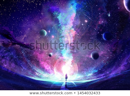 Surreal planet image Stock photo © kjpargeter
