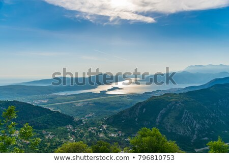 Tivat city and airport landing strip Stock photo © Steffus