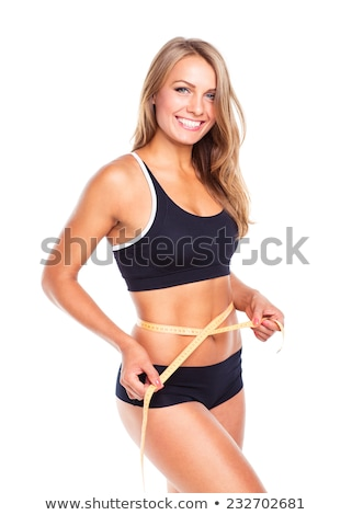 woman measuring perfect shape stock photo © ssuaphoto