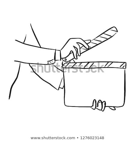 assinar · cortar · isolado · branco · naturalismo - foto stock © photocreo