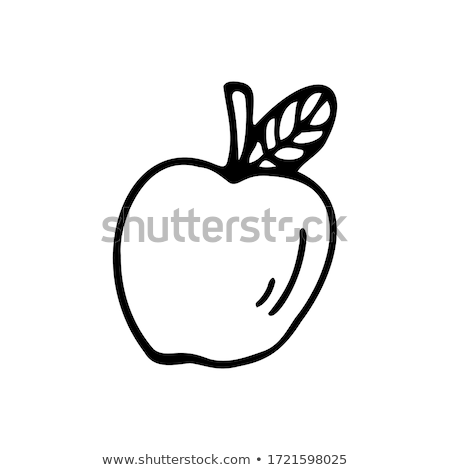 Doodle Apple icon Stock photo © pakete