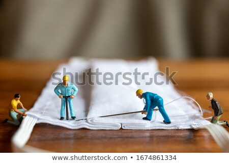 miniature figures making medicine Stock photo © compuinfoto