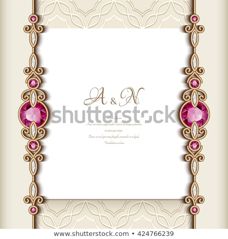 Stock photo: wedding jewel frame