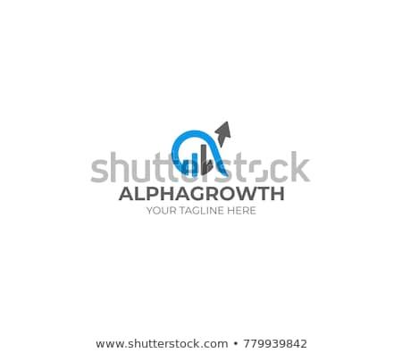 arrow and finance logo Stock photo © krustovin