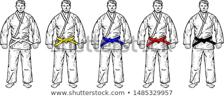 Man in blue outfit doing taekwondo Stock photo © bluering
