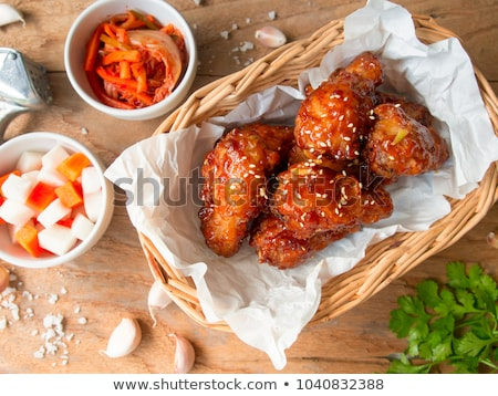 Stock photo: Spicy korean fried chicken