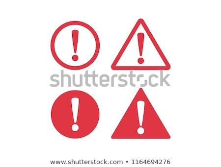 Segurança alertar ícone projeto laptop Foto stock © WaD