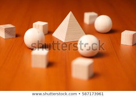 3D · resumen · cubo · pelota · forma · azul - foto stock © monarx3d