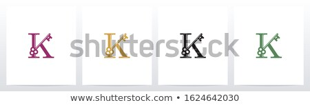 A letter K for key Stock photo © bluering