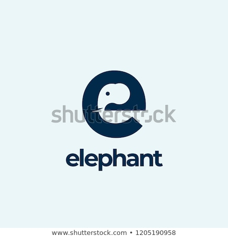 A letter E for elephant Stock photo © bluering