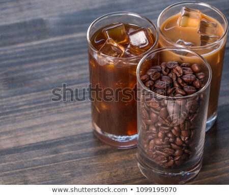 Varietà ghiacciato caffè bevande tavolo in legno stock Foto d'archivio © nalinratphi