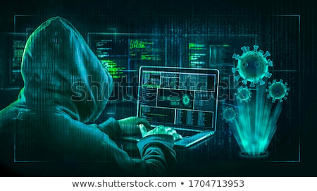 Cyber Crime Concept with Virus Stock photo © -TAlex-