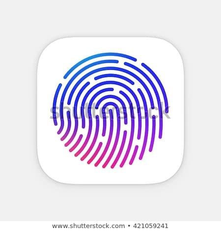 ID App icon template. Fingerprint vector illustration. Mobile application icon. Vector colorful id i stock photo © Said