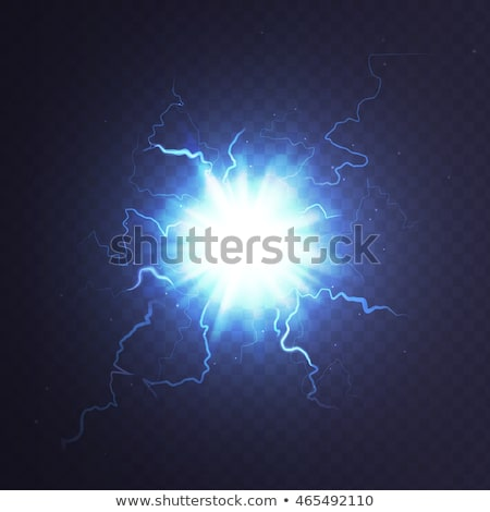 Stock photo: Electrical discharge. Lightning. EPS 10