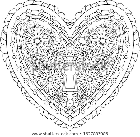 Сток-фото: механический · сердце · ключевые · передач · серый