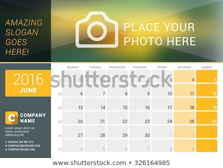 2016 calender design Stock photo © SArts