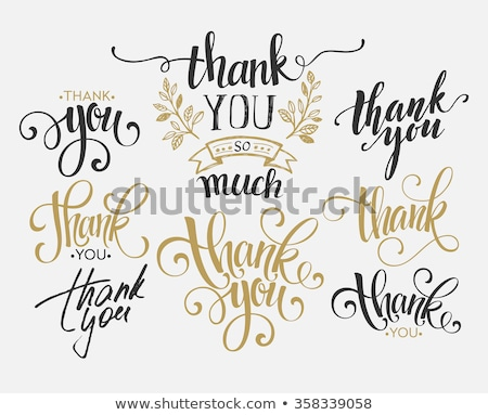 thank you calligraphic inscription set stock photo © andrei_