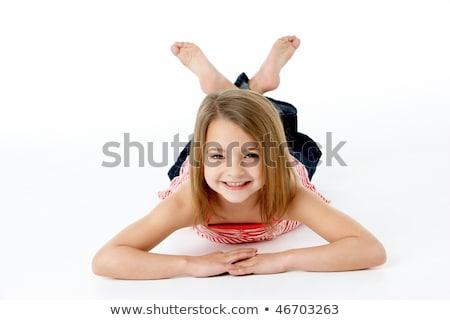 желудка · студию · девушки · детей · счастливым - Сток-фото © monkey_business