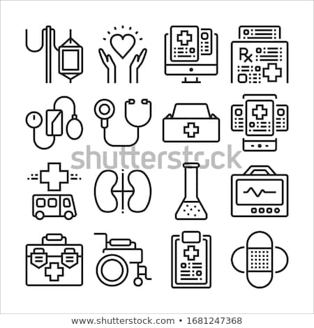 Sprzęt medyczny line projektu piktogramy zestaw nowoczesne Zdjęcia stock © Decorwithme