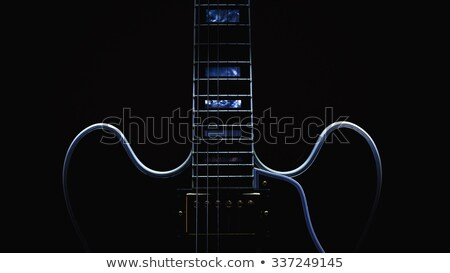 Guitarra elétrica pescoço natureza morta pormenor couro Foto stock © Kayco