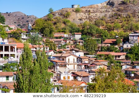 Rooftops of Palaichori village. Cyprus, Nicosia District Stock photo © Kirill_M