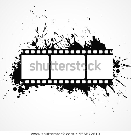 abstract 3d film strip background with black ink effect Stock photo © SArts