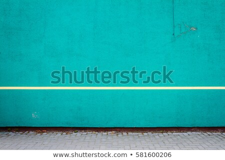 Vibrant cyan plaster wall Stock photo © Taigi