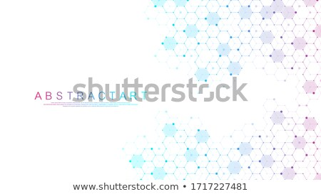 Abstract scientific DNA and molecule background design  Stock photo © Tefi