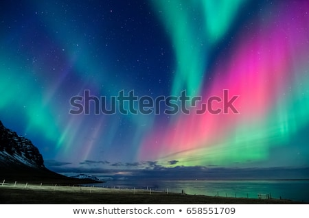 aurora borealis northern light iceland stock photo © vichie81