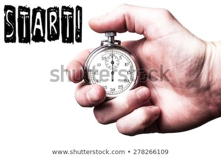 Stockfoto: Start · dieet · morgen · illustratie · evenwicht