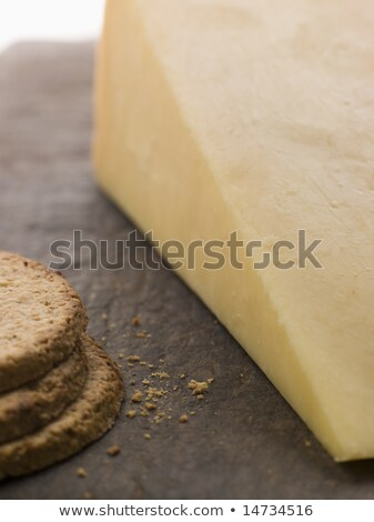 Wedge of Mature Cheddar with Oatmeal Biscuits Stock photo © monkey_business