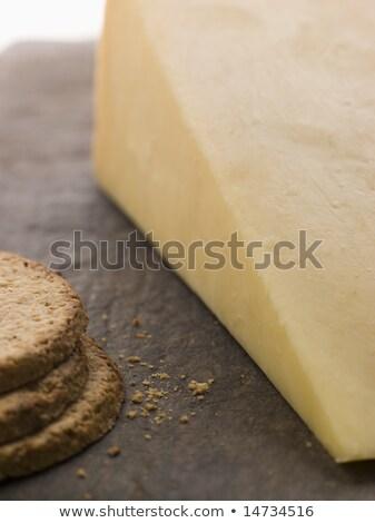 клин зрелый чеддер Печенье продовольствие Сток-фото © monkey_business