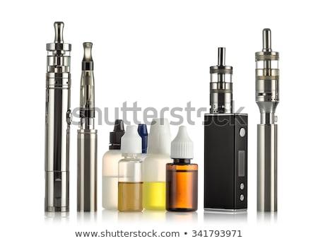 eléctrica · cigarrillo · aislado · blanco · salud · electrónico - foto stock © albund